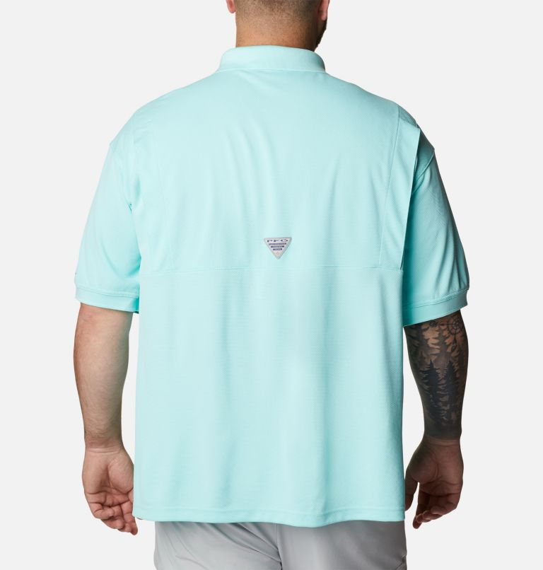 Perfect Cast™ Polo Shirt | 499 | 4X Men's PFG Perfect Cast™ Polo Shirt - Big, Gulf Stream, back