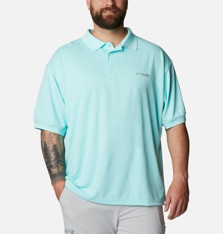 Perfect Cast™ Polo Shirt | 499 | 4X Men's PFG Perfect Cast™ Polo Shirt - Big, Gulf Stream, front