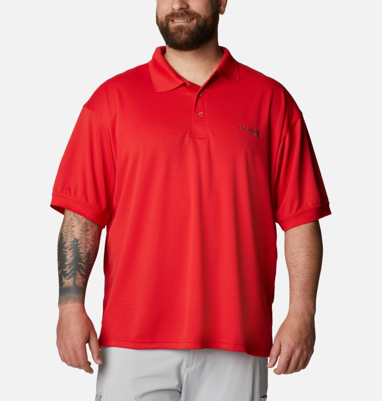 Perfect Cast™ Polo Shirt | 696 | 1X Men's PFG Perfect Cast™ Polo Shirt - Big, Red Spark, front