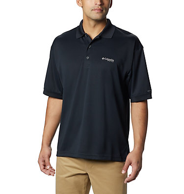 Men's PFG Perfect Cast™ Polo Shirt - Tall Perfect Cast™ Polo Shirt | 010 | LT, Black, front