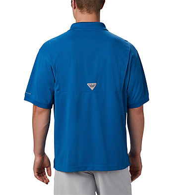 Men's PFG Perfect Cast™ Polo Shirt - Tall Perfect Cast™ Polo Shirt | 010 | LT, Dark Pool, back