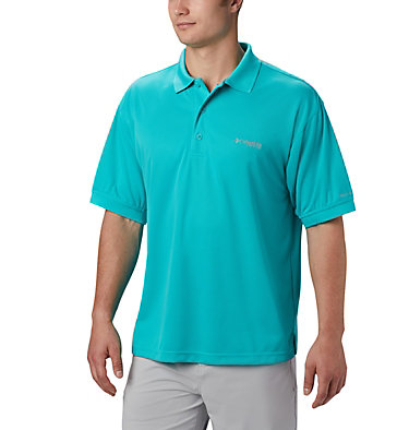Men's PFG Perfect Cast™ Polo Shirt - Tall Perfect Cast™ Polo Shirt | 469 | 5XT, Bright Aqua, front