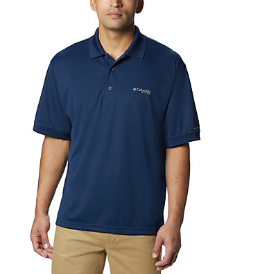 Men's PFG Perfect Cast™ Polo Shirt - Tall Perfect Cast™ Polo Shirt | 469 | 5XT, Collegiate Navy, front