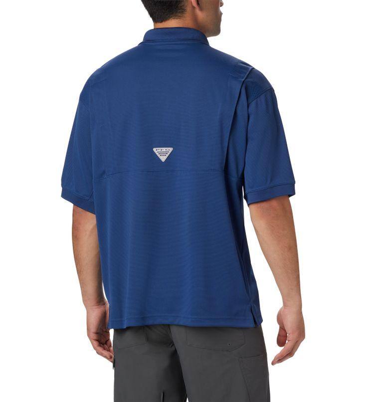 Perfect Cast™ Polo Shirt | 469 | LT Men's PFG Perfect Cast™ Polo Shirt - Tall, Carbon, back
