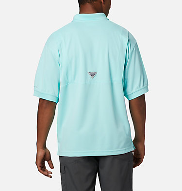 Men's PFG Perfect Cast™ Polo Shirt - Tall Perfect Cast™ Polo Shirt | 010 | LT, Gulf Stream, back