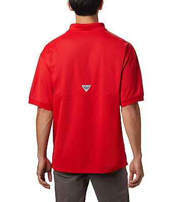Men's PFG Perfect Cast™ Polo Shirt - Tall Perfect Cast™ Polo Shirt | 469 | 5XT, Red Spark, back