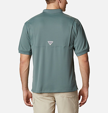 Men's PFG Perfect Cast™ Polo Shirt - Tall Perfect Cast™ Polo Shirt | 469 | 5XT, Pond, back
