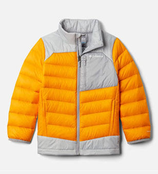 Close-up of a winter jacket for kids.