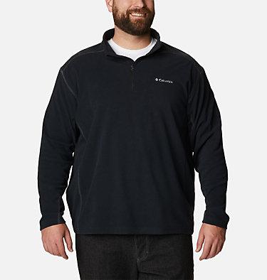 Men's Klamath Range™ II Half Zip Fleece Pullover - Big Klamath Range™ II Half Zip | 043 | 4X, Black, front