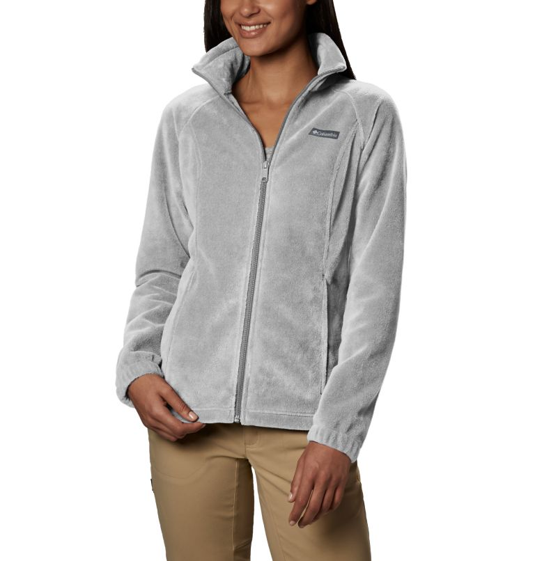 Benton Springs™ Full Zip | 034 | PXL Women's Benton Springs™ Full Zip Fleece - Petite, Cirrus Grey Heather, front