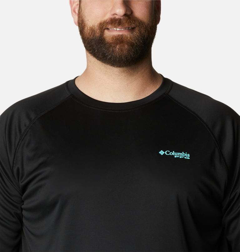 Terminal Tackle™ LS Shirt | 027 | 6X Men's PFG Terminal Tackle™ Long Sleeve Shirt - Big, Black, Gulf Stream Logo, a2