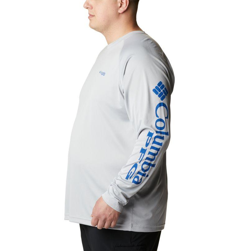 Terminal Tackle™ LS Shirt | 028 | 6X Men's PFG Terminal Tackle™ Long Sleeve Shirt - Big, Cool Grey, Vivid Blue Logo, a1