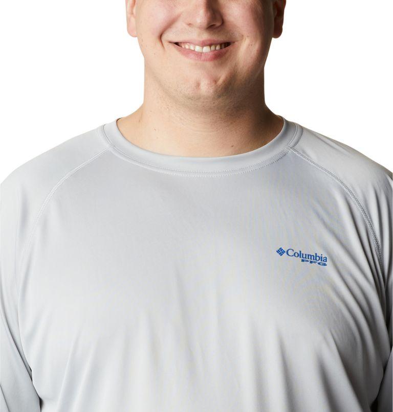 Terminal Tackle™ LS Shirt | 028 | 6X Men's PFG Terminal Tackle™ Long Sleeve Shirt - Big, Cool Grey, Vivid Blue Logo, a2