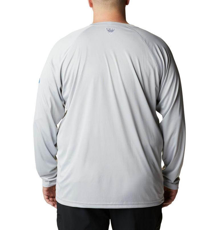 Terminal Tackle™ LS Shirt | 028 | 6X Men's PFG Terminal Tackle™ Long Sleeve Shirt - Big, Cool Grey, Vivid Blue Logo, back