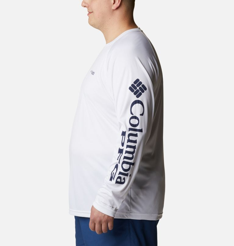 Terminal Tackle™ LS Shirt   114   1X Men's PFG Terminal Tackle™ Long Sleeve Shirt - Big, White, Nightshade Logo, a1