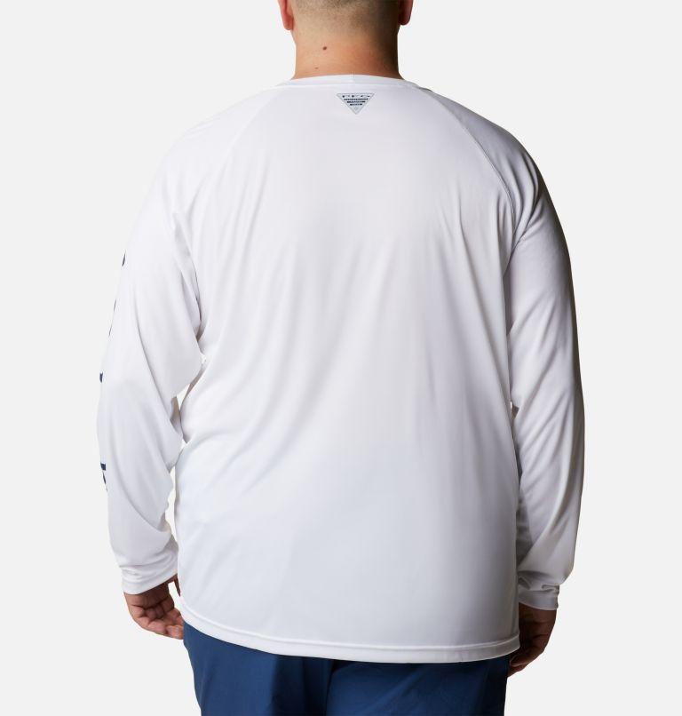 Terminal Tackle™ LS Shirt   114   1X Men's PFG Terminal Tackle™ Long Sleeve Shirt - Big, White, Nightshade Logo, back