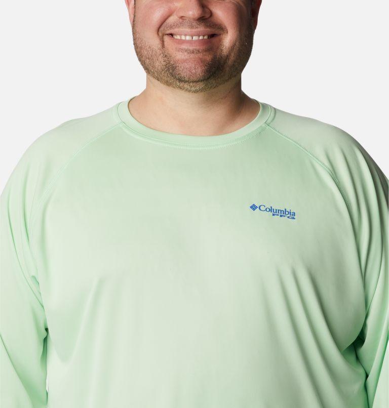 Terminal Tackle™ LS Shirt | 376 | 3X Men's PFG Terminal Tackle™ Long Sleeve Shirt - Big, Key West, Vivid Blue Logo, a2