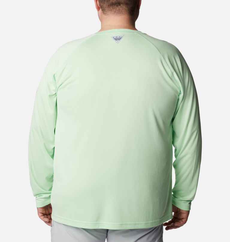 Terminal Tackle™ LS Shirt | 376 | 3X Men's PFG Terminal Tackle™ Long Sleeve Shirt - Big, Key West, Vivid Blue Logo, back