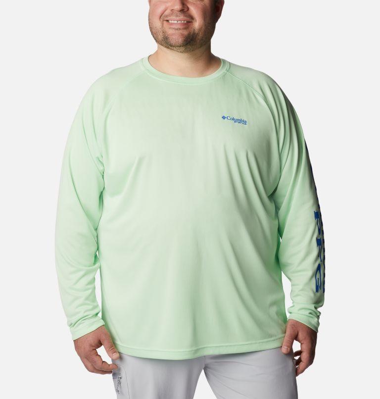 Terminal Tackle™ LS Shirt | 376 | 3X Men's PFG Terminal Tackle™ Long Sleeve Shirt - Big, Key West, Vivid Blue Logo, front