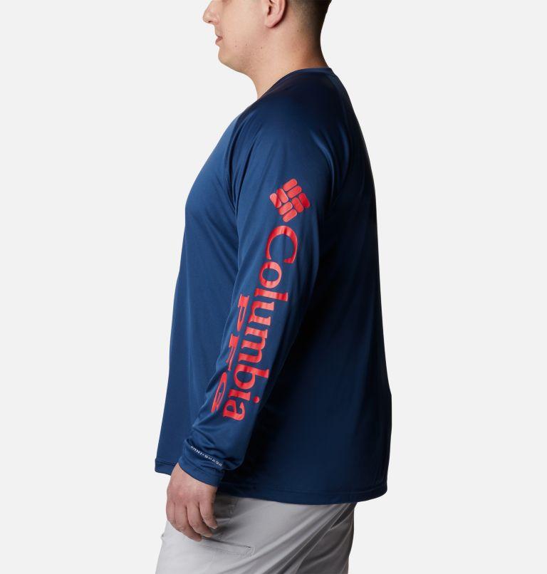 Terminal Tackle™ LS Shirt   474   1X Men's PFG Terminal Tackle™ Long Sleeve Shirt - Big, Carbon, Red Spark Logo, a1