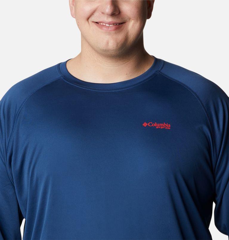 Terminal Tackle™ LS Shirt   474   1X Men's PFG Terminal Tackle™ Long Sleeve Shirt - Big, Carbon, Red Spark Logo, a2
