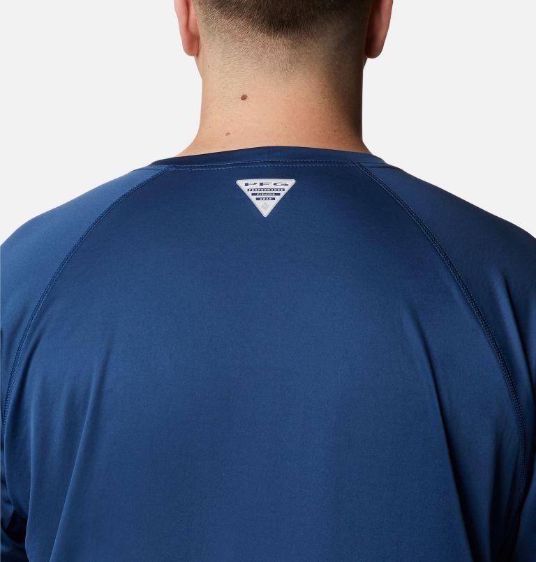 Terminal Tackle™ LS Shirt   474   1X Men's PFG Terminal Tackle™ Long Sleeve Shirt - Big, Carbon, Red Spark Logo, a3