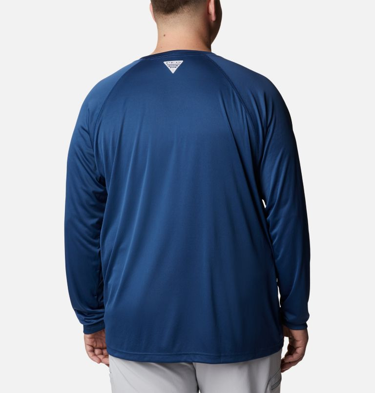 Terminal Tackle™ LS Shirt   474   1X Men's PFG Terminal Tackle™ Long Sleeve Shirt - Big, Carbon, Red Spark Logo, back