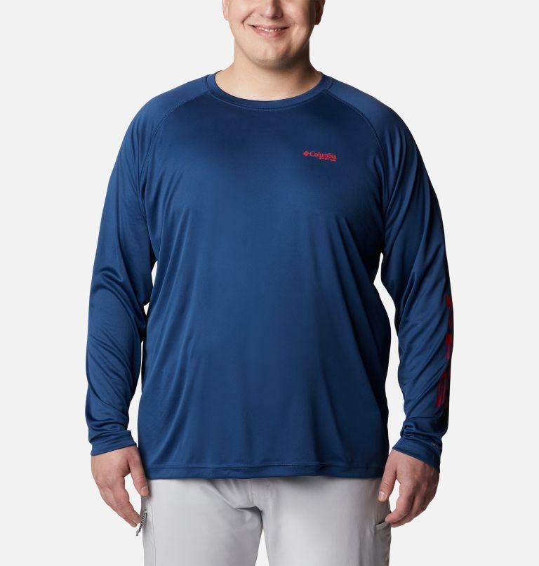 Terminal Tackle™ LS Shirt   474   1X Men's PFG Terminal Tackle™ Long Sleeve Shirt - Big, Carbon, Red Spark Logo, front