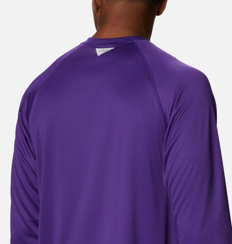 Terminal Tackle™ LS Shirt | 517 | 1X Men's PFG Terminal Tackle™ Long Sleeve Shirt - Big, Vivid Purple, White Logo, a3