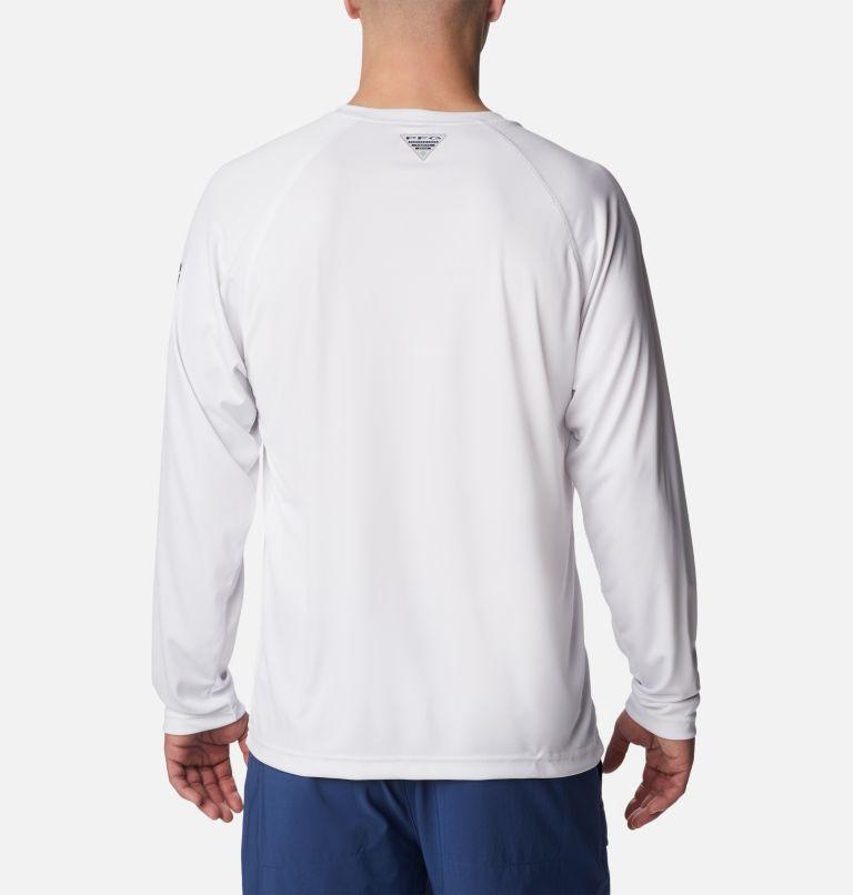 Terminal Tackle™ LS Shirt   114   2XT Men's PFG Terminal Tackle™Long Sleeve Shirt - Tall, White, Nightshade Logo, back
