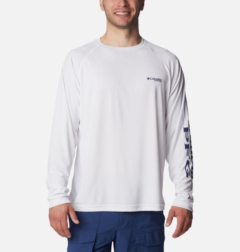 Terminal Tackle™ LS Shirt   114   2XT Men's PFG Terminal Tackle™Long Sleeve Shirt - Tall, White, Nightshade Logo, front