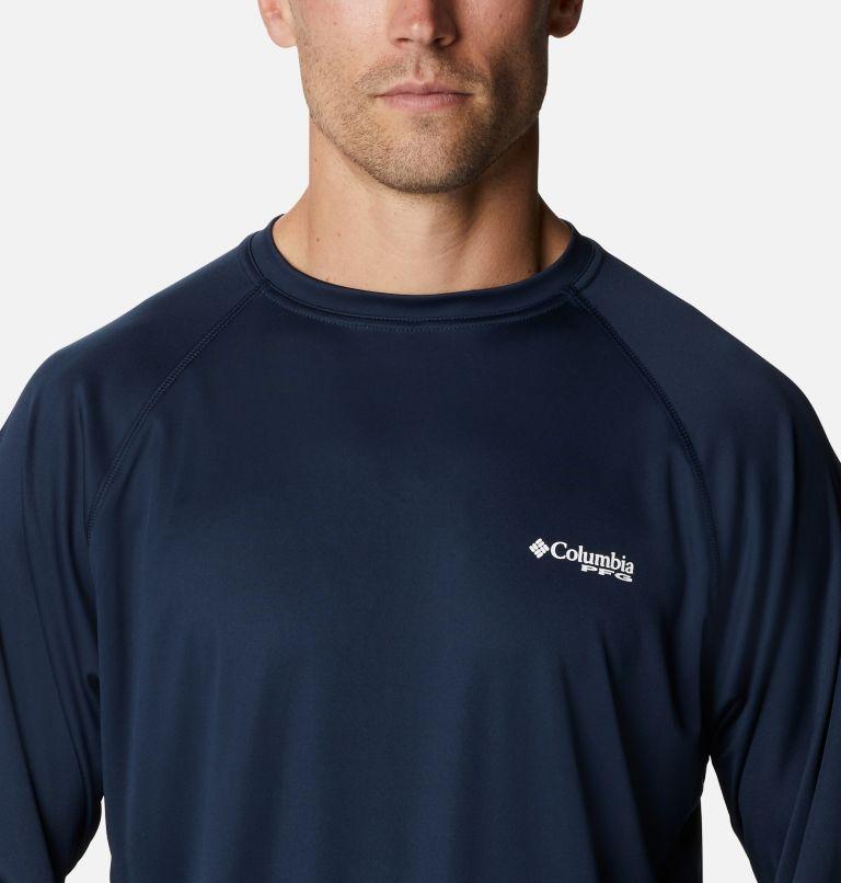 Terminal Tackle™ LS Shirt   471   4XT Men's PFG Terminal Tackle™Long Sleeve Shirt - Tall, Collegiate Navy, White Logo, a2