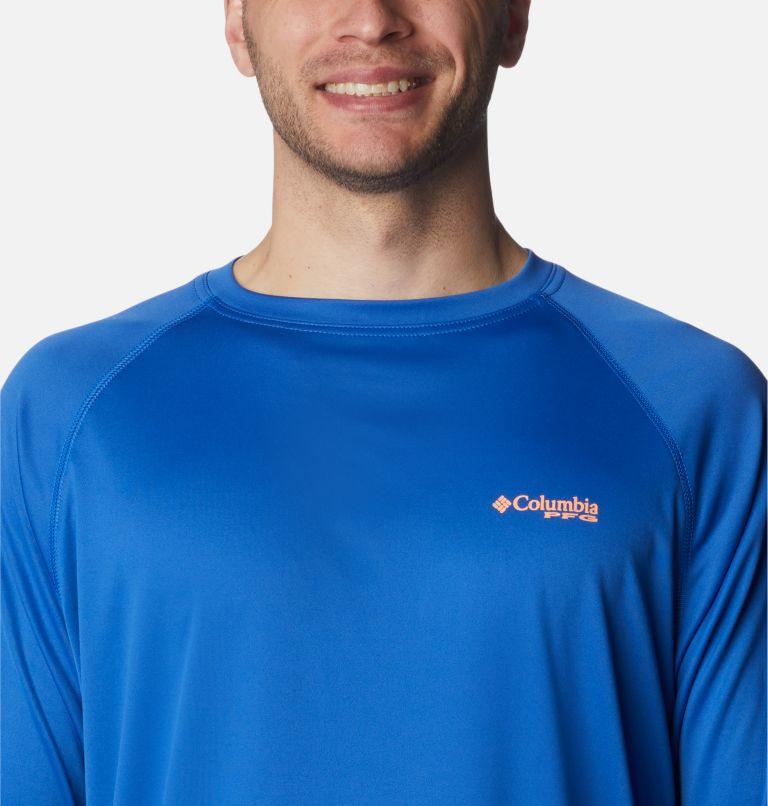 Terminal Tackle™ LS Shirt | 493 | 2XT Men's PFG Terminal Tackle™Long Sleeve Shirt - Tall, Vivid Blue, Bright Nectar Logo, a2