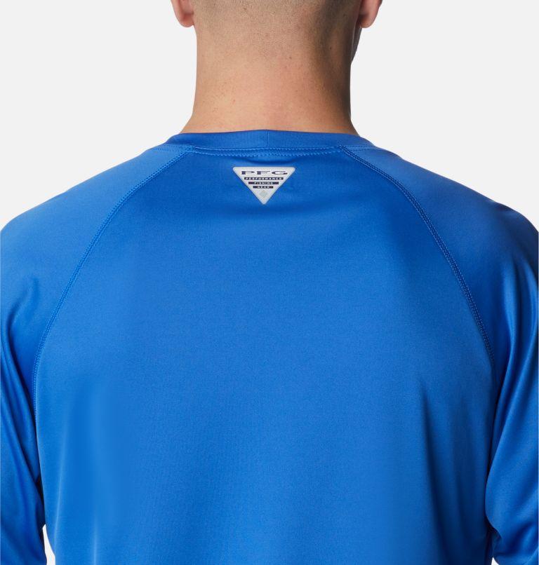 Terminal Tackle™ LS Shirt | 493 | 2XT Men's PFG Terminal Tackle™Long Sleeve Shirt - Tall, Vivid Blue, Bright Nectar Logo, a3