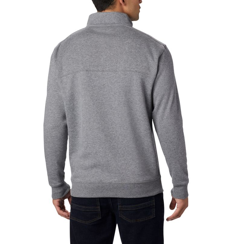 Hart Mountain™ II Half Zip | 030 | L Men's Hart Mountain™ II Half Zip, Charcoal Heather, back