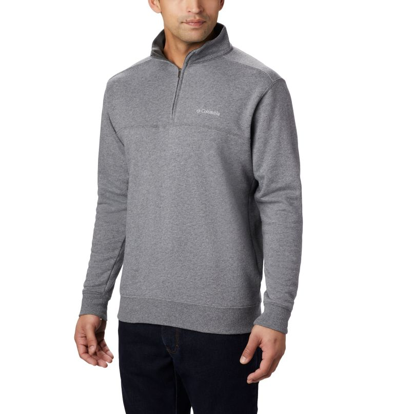 Hart Mountain™ II Half Zip | 030 | L Men's Hart Mountain™ II Half Zip, Charcoal Heather, front