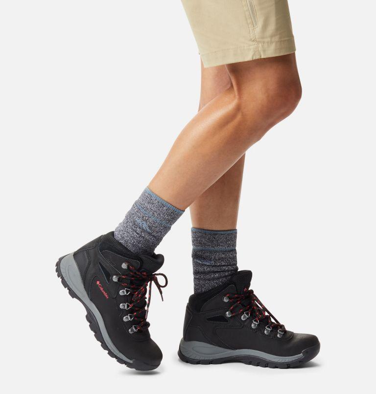 NEWTON RIDGE™ PLUS WIDE | 010 | 9 Women's Newton Ridge™ Plus Waterproof Hiking Boot - Wide, Black, Poppy Red, a9