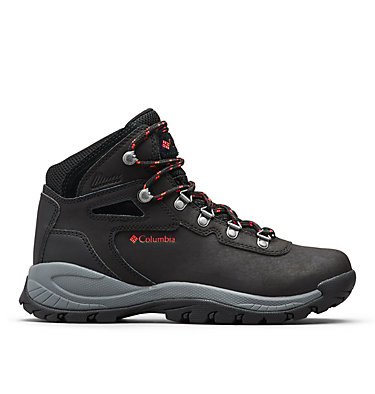 Women's Newton Ridge™ Plus Waterproof Hiking Boot - Wide NEWTON RIDGE™ PLUS WIDE | 052 | 10, Black, Poppy Red, front