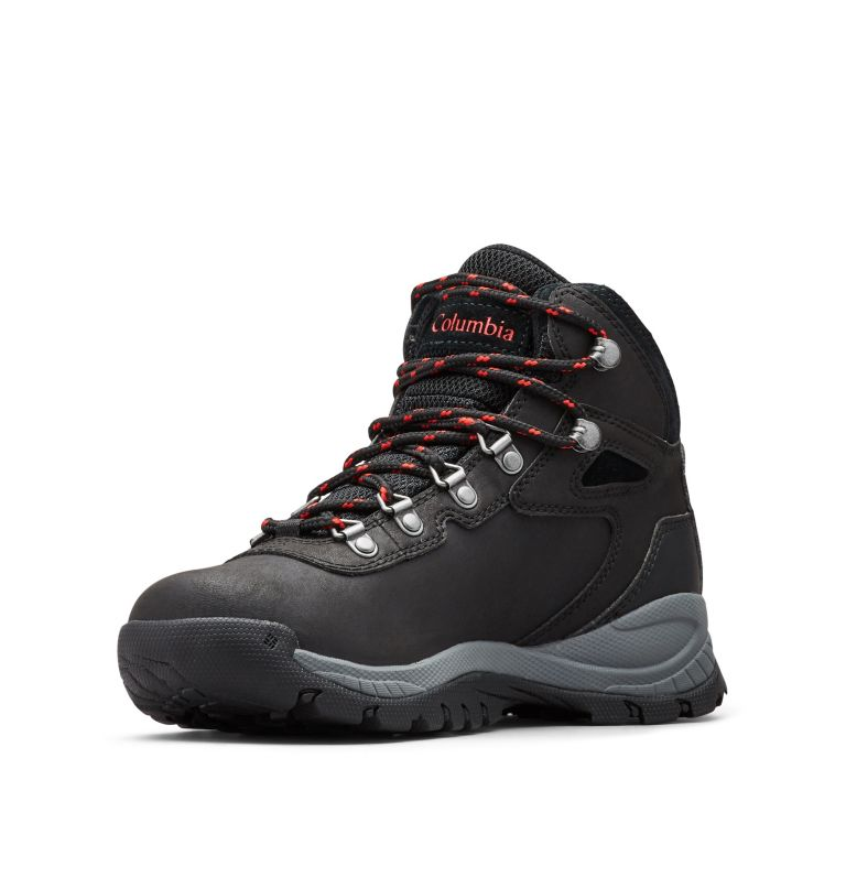 NEWTON RIDGE™ PLUS WIDE | 010 | 7.5 Women's Newton Ridge™ Plus Waterproof Hiking Boot - Wide, Black, Poppy Red
