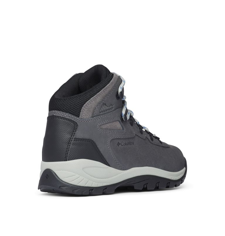 NEWTON RIDGE™ PLUS WIDE | 052 | 8 Women's Newton Ridge™ Plus Waterproof Hiking Boot - Wide, Quarry, Cool Wave, 3/4 back