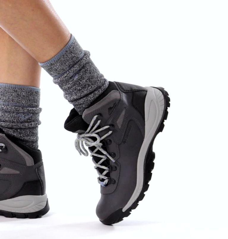 NEWTON RIDGE™ PLUS WIDE | 052 | 7 Women's Newton Ridge™ Plus Waterproof Hiking Boot - Wide, Quarry, Cool Wave, video