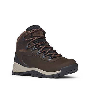 Women's Newton Ridge™ Plus Waterproof Hiking Boot - Wide NEWTON RIDGE™ PLUS WIDE | 052 | 10, Cordovan, Crown Jewel, 3/4 front