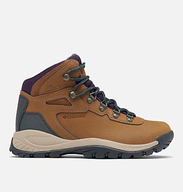 Women's Newton Ridge™ Plus Waterproof Hiking Boot - Wide NEWTON RIDGE™ PLUS WIDE | 052 | 10, Light Brown, Cyber Purple, front