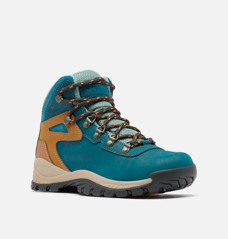 NEWTON RIDGE™ PLUS WIDE | 314 | 7.5 Women's Newton Ridge™ Plus Waterproof Hiking Boot - Wide, Deep Wave, Dusty Green, 3/4 front