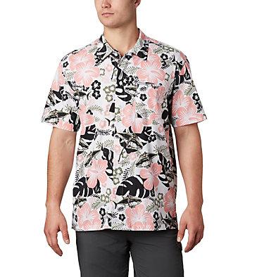 Men's PFG Trollers Best™ Short Sleeve Shirt – Big Trollers Best™ SS Shirt | 344 | 2X, Black Katuna Vibes Print, front