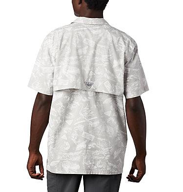 Men's PFG Trollers Best™ Short Sleeve Shirt – Big Trollers Best™ SS Shirt | 344 | 2X, Cool Grey Freshwater Roots Print, back