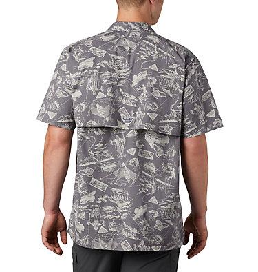 Men's PFG Trollers Best™ Short Sleeve Shirt – Big Trollers Best™ SS Shirt | 344 | 2X, City Grey Freshwater Roots Print, back