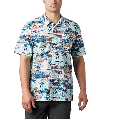 Men's PFG Trollers Best™ Short Sleeve Shirt – Big Trollers Best™ SS Shirt | 344 | 2X, Beach Billfish BBQ Print, front
