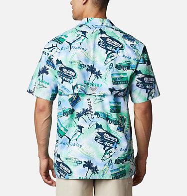 Men's PFG Trollers Best™ Short Sleeve Shirt – Big Trollers Best™ SS Shirt | 344 | 2X, Emerald Green Offshore Archive Print, back