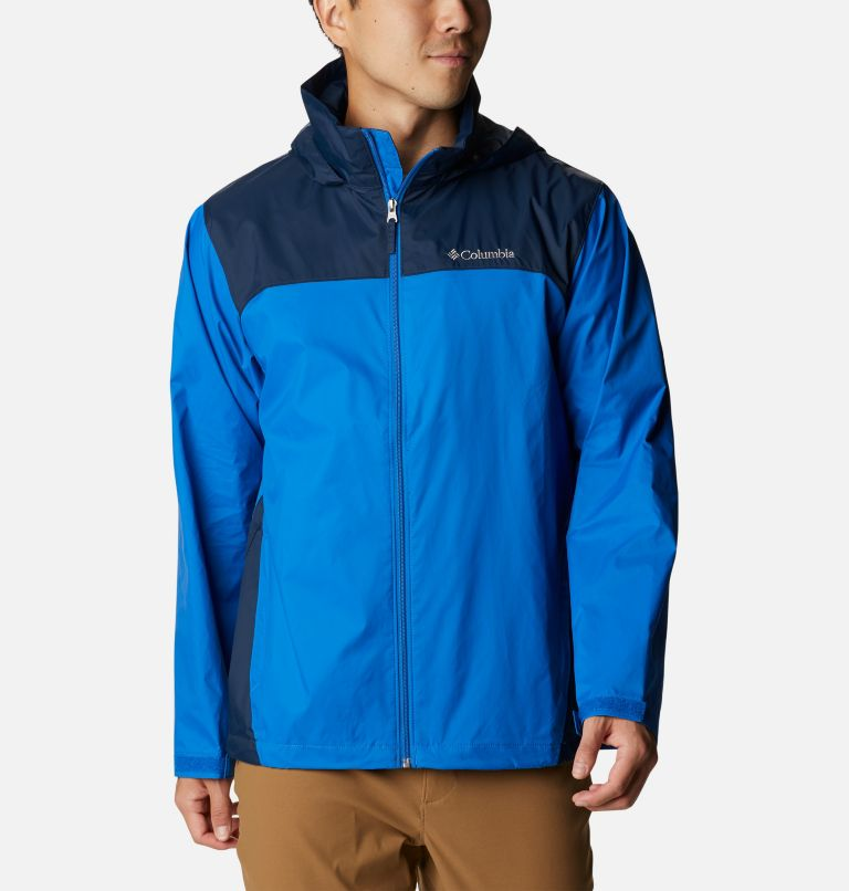 Glennaker Lake™ Rain Jacket | 072 | L Men's Glennaker Lake™ Rain Jacket, Blue Jay, Columbia Navy, front